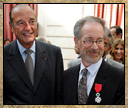 President Chirac with Spielberg